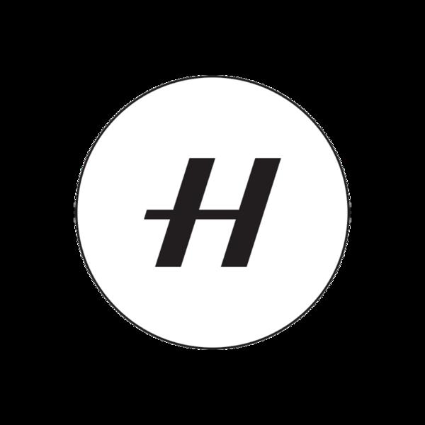 Round h white logo