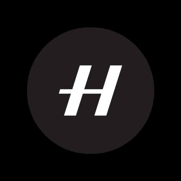 Round h black logo